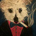 Ziggy The Distinguished Smoking Dog by Troy V