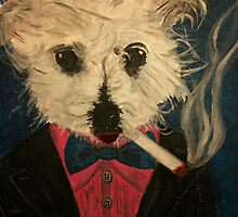 Ziggy The Distinguished Smoking Dog by Troy V