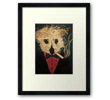 Ziggy The Distinguished Smoking Dog Framed Print