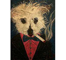 Ziggy The Distinguished Smoking Dog Photographic Print