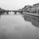 Arno River in Florence, Italy by Kent Nickell
