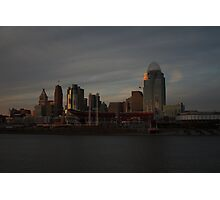 Cincinnati Skyline at Dusk Photographic Print