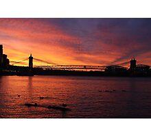 Cincinnati Sunset Photographic Print