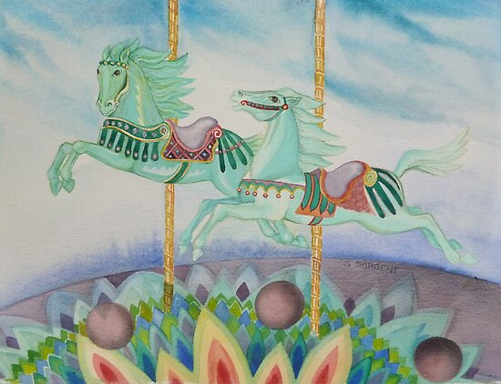 Jade Horses by Sally Sargent