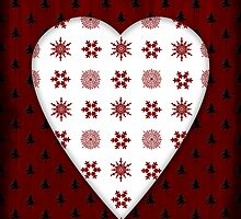 Christmas Heart - PRINT by Sybille Sterk