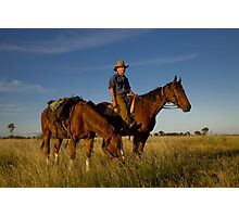Pic Willetts - Packhorse Drover Photographic Print