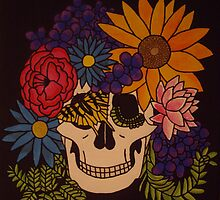Skull of Flowers by azurafae