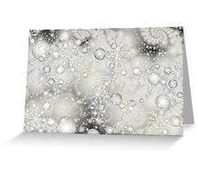 Snow Flakes and Pearls Greeting Card