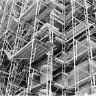 Scaffolding - City Hall - Philadelphia by nickchic