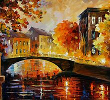 THE RIVER OF MEMORIES - Original Art Oil Painting By Leonid Afremov by Leonid  Afremov