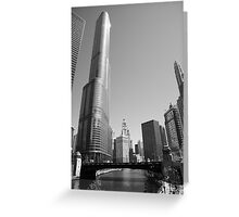 Chicago River and Skyline Greeting Card