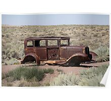 Route 66 - Abandoned Car Poster