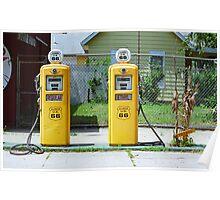 Route 66 - Illinois Gas Pumps Poster
