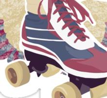 Flying Groovy Skate (grunge) Sticker