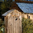 Outhouse on a Moonlit Night by Mark Van Scyoc