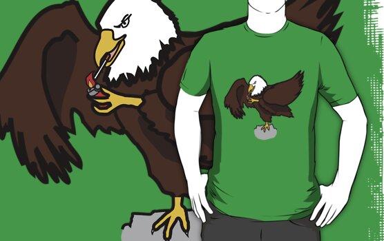 smoking eagle by Sviz