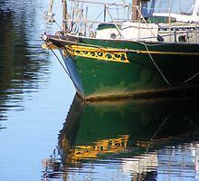 Sailing Boat Reflections. by Esther's Art and Photography