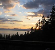 "From The Balcony: ""Lake Tahoe Sunrise"" by waddleudo"