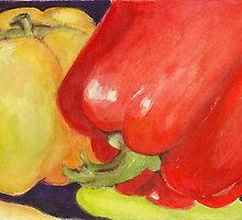 Saucey Peppers by vickie blair