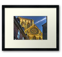 A Closer View of the Rose Window - York Minster Framed Print