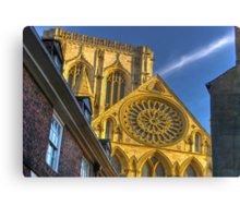 A Closer View of the Rose Window - York Minster Canvas Print