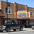 Rogers City, Michigan - Theater and Pickup by Frank Romeo