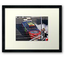 Jeff Gordon Wins At Martinsville Speedway Framed Print