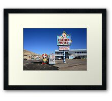Tonopah, Nevada - Clown Motel Framed Print