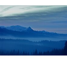 Views 3462 *** Winter landscape  - Tatra Mountains . Poland .  tribute to Gershwin plays Gershwin: Rhapsody in Blue . Made in Andrzej Goszcz .  thanks for viewing !. Photographic Print