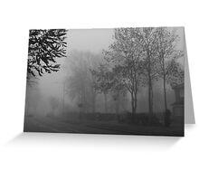 Foggy suburbia Greeting Card
