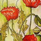 Poppies 2 by Angela Gannicott