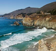 Rocky Creek Point, Big Sur, California by Barb White