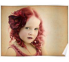 Mila as a Vintage Rose Poster