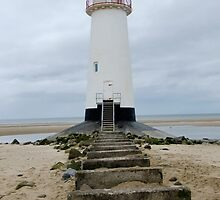 Point of Ayr Lighthouse, Talacre, North Wales by AnnDixon