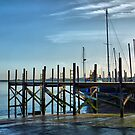 Jetty on the Slipway .  by Lilian Marshall