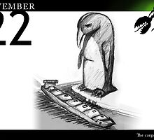 November 22nd - The tanker by 365 Notepads -  School of Faces