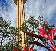 Tower of the Americas - San Antonio Texas by Debbie Pinard