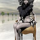 Femme Avec Chaise by Sandra Bauser Digital Art