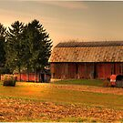 Whispering Pine Barn by Sharon Batdorf