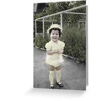 Yellow Dress Greeting Card