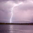 Lightning Across the Richmond River by Michael Bath