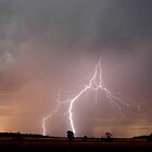 Sunset Lightning near Millmerran II by Michael Bath