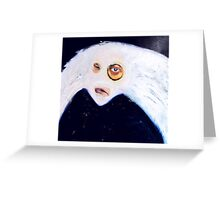 self portrait mask (blue) Greeting Card