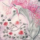 The Unicorn And The Roses by AngelArtiste
