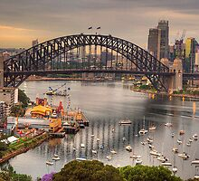 The Coathanger - Sydney Harbour Bridge, Sydney Harbour, Australia - The HDR Experience by Philip Johnson