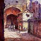 ~Old Dhaka~, watercolor by SADEK AHMED, from BANGLADESH by Sadek  Ahmed