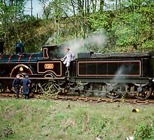 "Steam Locomotive ""Hardwicke"" (built 1892) taking a rest, 1976. by David A. L. Davies"