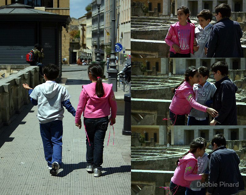 Friends - Lecce Italy by Debbie Pinard