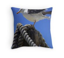 Perched on High Throw Pillow