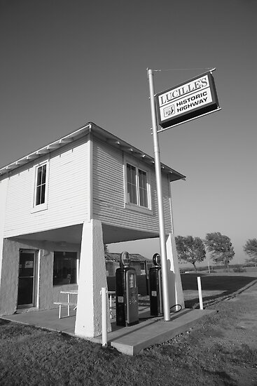 Route 66 - Lucille's Gas Station by Frank Romeo